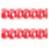 Cut 11/0 Opaque Light Red Luster Strung